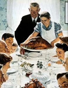 Norman Rockwell family Thanksgiving dinner