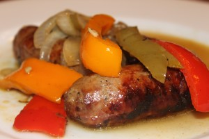 Gluten Free Sausage and Peppers