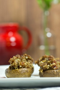 Gluten Free, Paleo, Bacon, Sausage, Stuffed Mushrooms