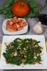 Sautéed Kale Tossed With Bacon