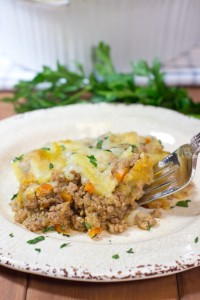 shepherd's pie, gluten free, lamb, creamy mashed potatoes