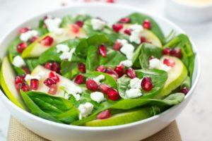 Pomegranate Spinach Salad With Apple Cider Vinaigrette