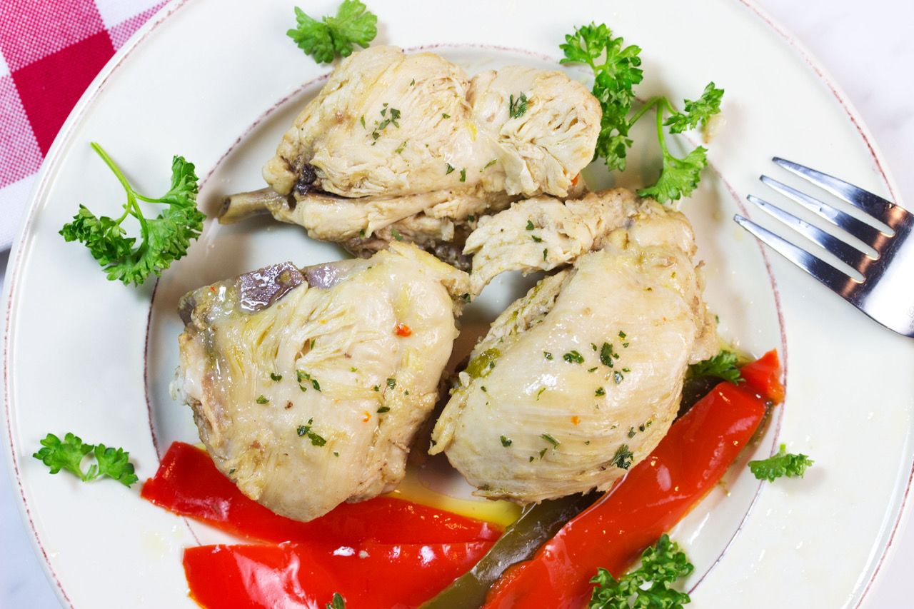 Low carb chicken and peppers